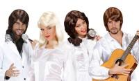 Blonde 70er Jahre Popstar Perücke