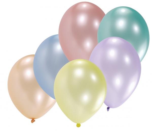8er Set Luftballons Muschelglanz Perlmutt 30 cm