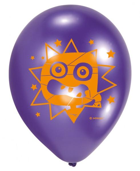 6 Monster Parade ballonnen 23cm