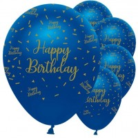 16 Luxurious Happy Birthday Ballons 30cm