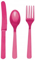 24-teiliges Besteck Set Mila pink