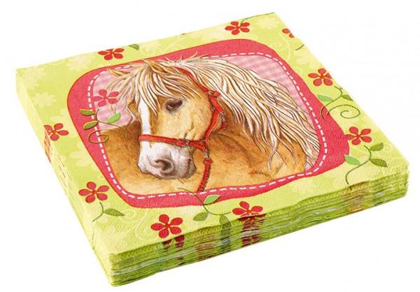 20 Reiterhof Party Pferde Servietten