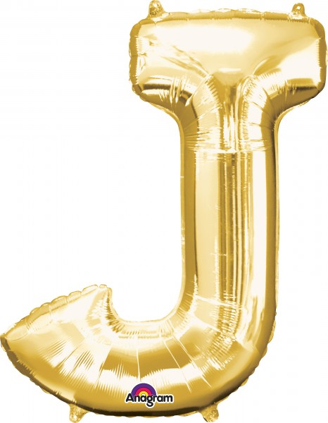 Buchstaben Folienballon gold 83cm
