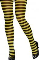 Bienen Strumpfhose Schwarz Gelb