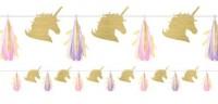 Golden Unicorn Girlande 2,4m
