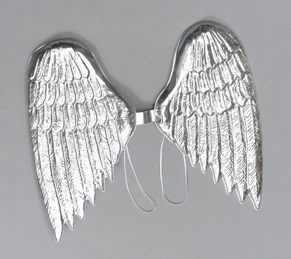 Alas de ángel plateadas elegantes