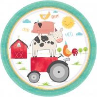 8 Happy Farm Life Pappteller 23cm