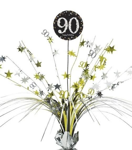 90. Geburtstag Tischfontäne silber-gold