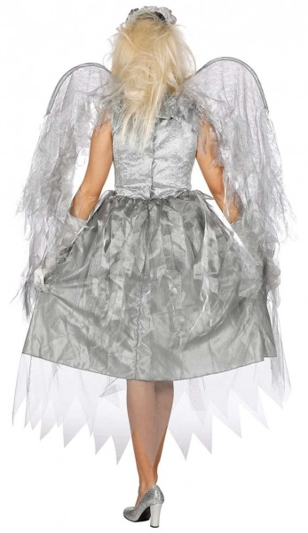Costume da donna argento spaventoso con ali
