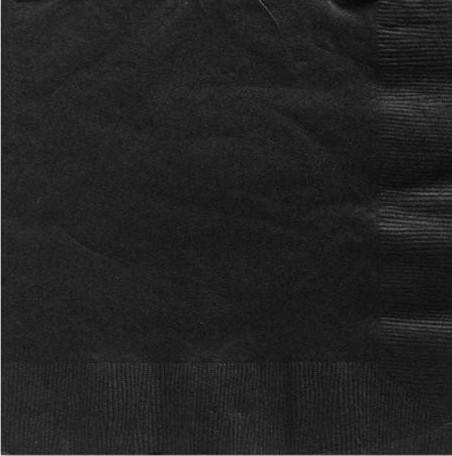 125 Schwarze Servietten Basel 25cm