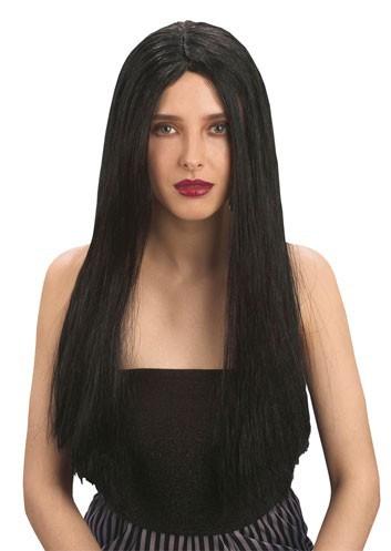 Pruik lang haar zwart