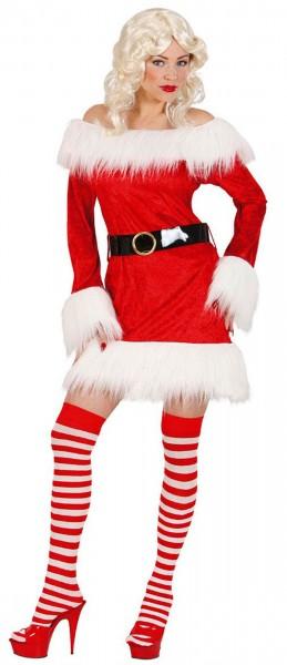 Costume de Noël pour femme en velours