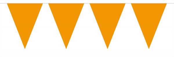 Kleine Wimpelkette Orange 3m