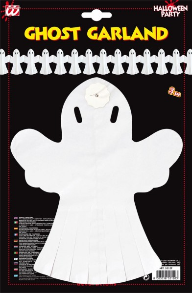 Carnival of the ghost krans hvid 3m