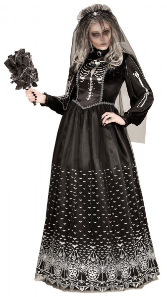 Skelett Horrorbraut Susy Damenkostüm