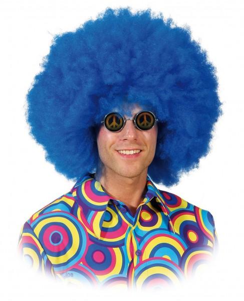 Blaue Afro Perücke
