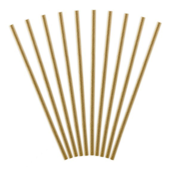 10 Natural Touch straws 19.5cm