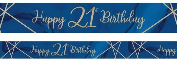 Luxurious 21th Birthday Banner 2.74m