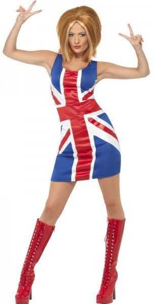 Pop Lady Union Jack ladies costume