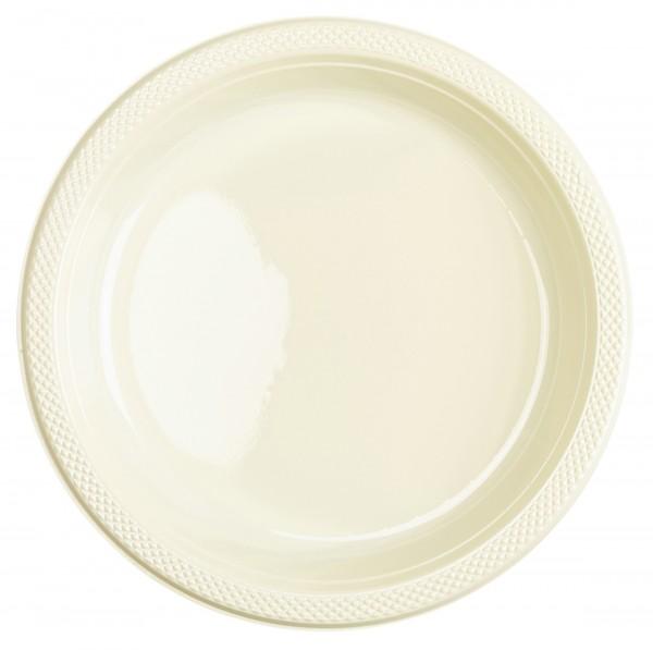 20 Kunststoff Teller Mila vanille 23cm