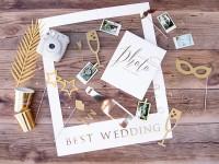 Foto Booth Set Best Wedding