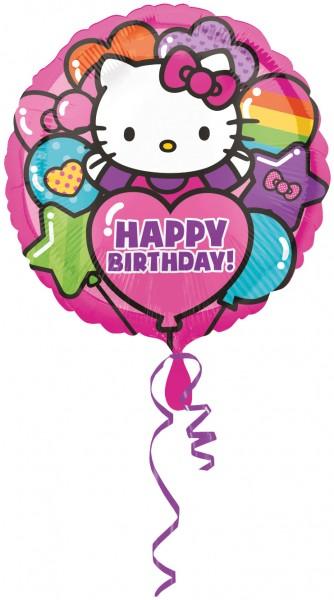 Geburtstagsballon Hello Kitty Party