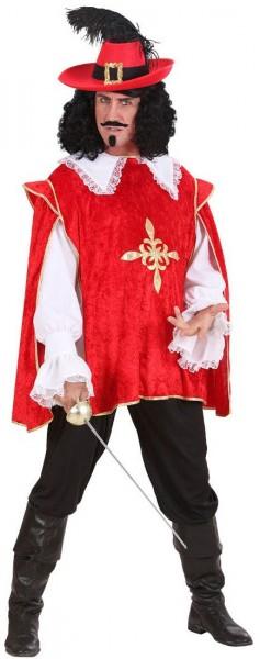 Rotes Musketier Oberteil Diego Für Herren