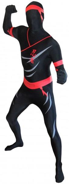 Schwarze Ninjagarde Kindermorphsuit