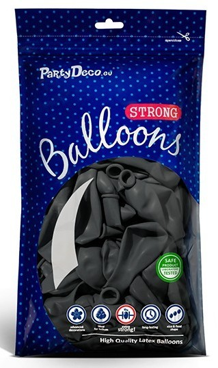100 Partystar Luftballons anthrazit 30cm