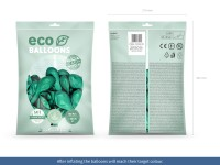 100 Eco metallic Ballons jadegrün 30cm