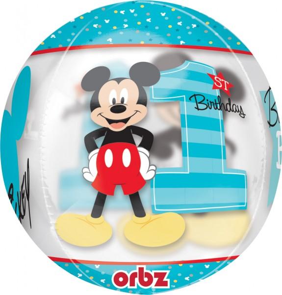 Kugelballon Mickey Mouse 1.Geburtstag
