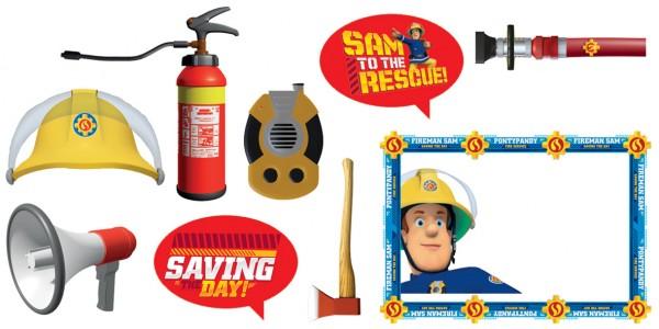 9 Feuerwehrmann Sam SOS Foto Requisiten