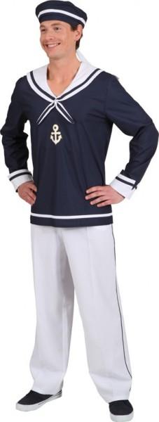 Camicia e cappello da marinaio marittimo