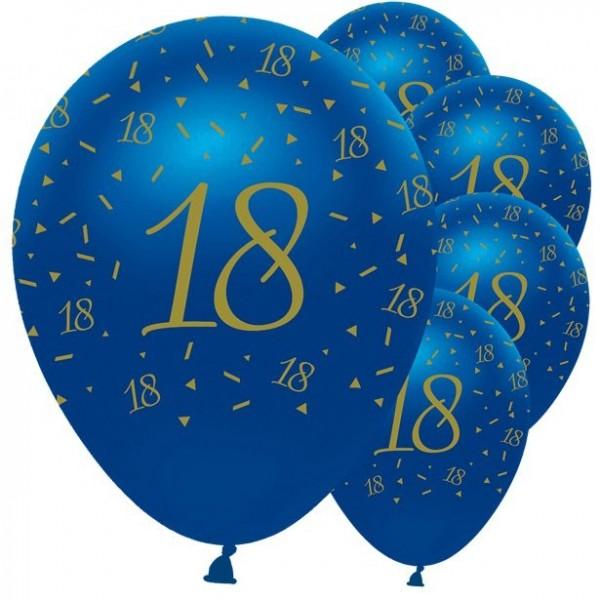 5 luxueux ballons 18ème anniversaire 30cm