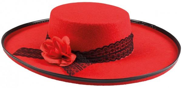 Festlicher Roter Damenhut