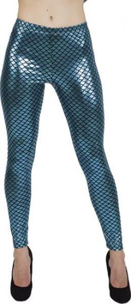 Glanzende leggings voor visschubben