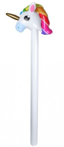 Rainbow unicorn balloon stick 1.1m