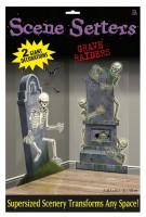 Grabräuber Skelette XXL Wanddeko