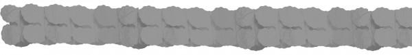 Papiergirlande grau 3,65m