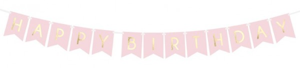 DIY Cheerful Birthday Girlande hellrosa 1,75m