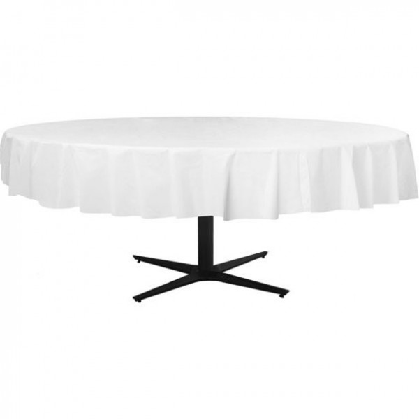 Round tablecloth white 2.1m