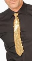 Goldene Pailletten Krawatte Deluxe