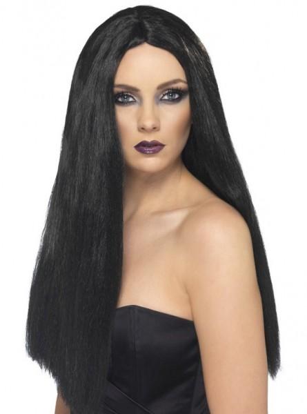Gothic lange haarpruik Bella