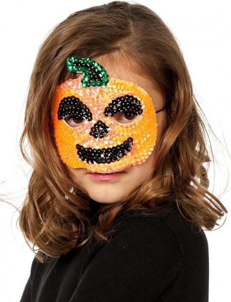 Funkelnde Kürbis Pailletten Kinder Maske
