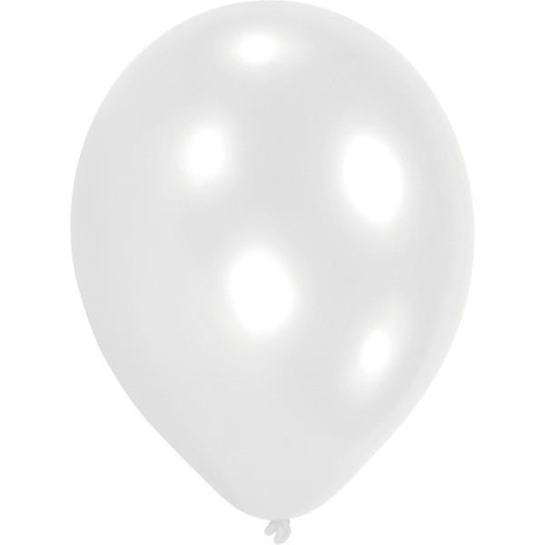 100 globos blancos 23 cm