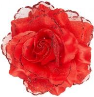 Rote Glitzer Rosen Haarspange