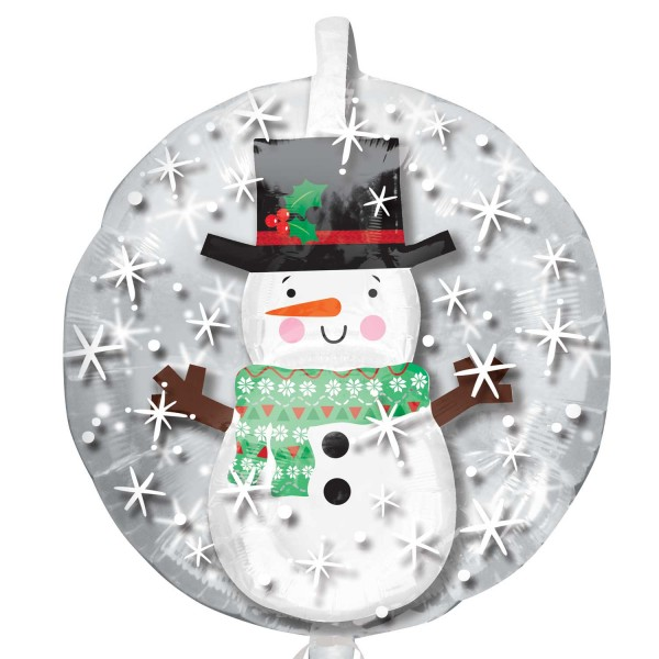 Ballon aluminium petit bonhomme de neige 60cm