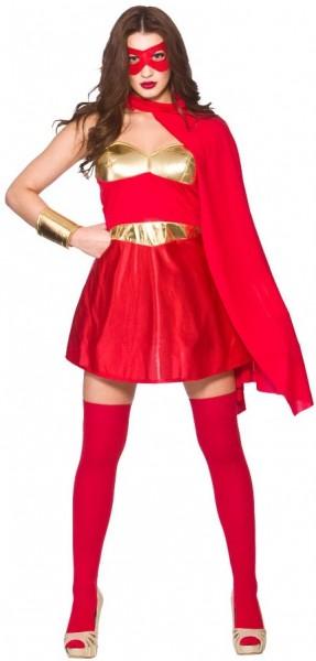 Sexy Superheldin Damenkostüm Rot