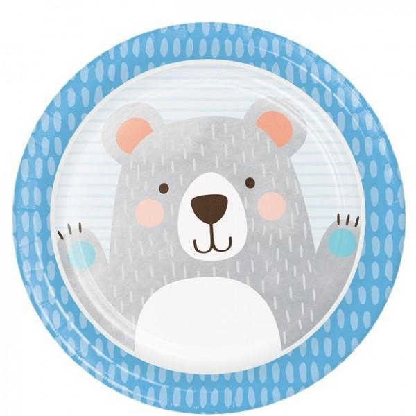 8 party bear paper plates 22cm