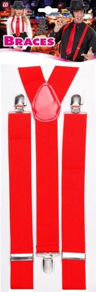 Elastische Hosenträger Rot
